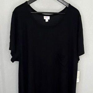LuLaRoe Black/Gray Carly Dress - size 3XL, NWT
